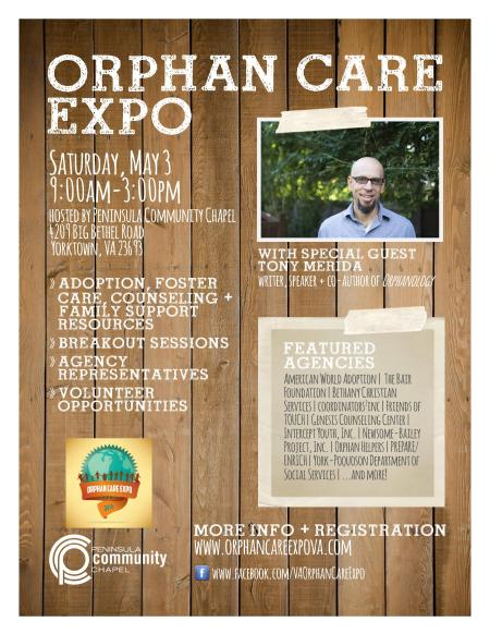 orphan care expo 8.5x11 poster